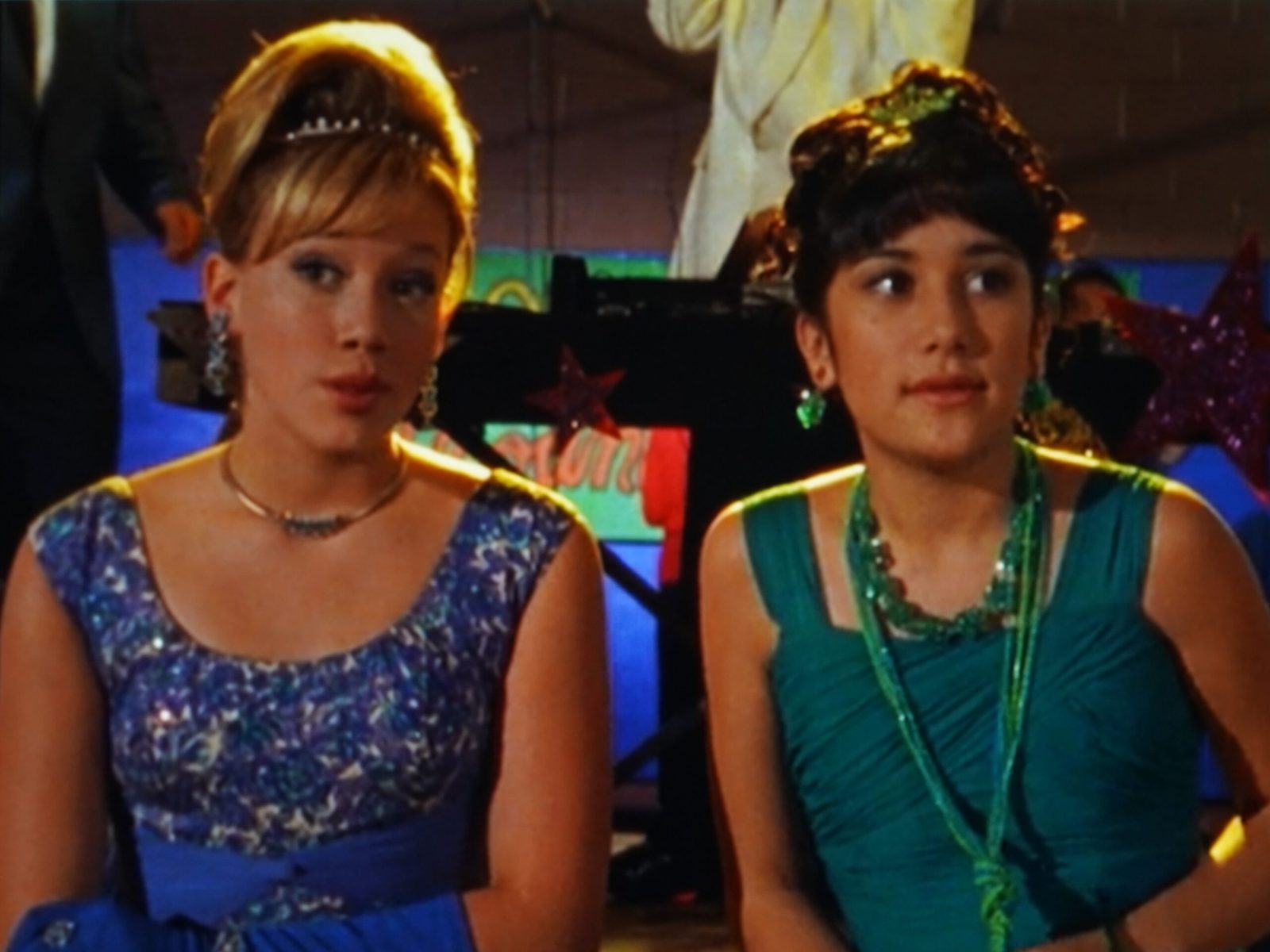 Lizzie and Miranda at the School Dance