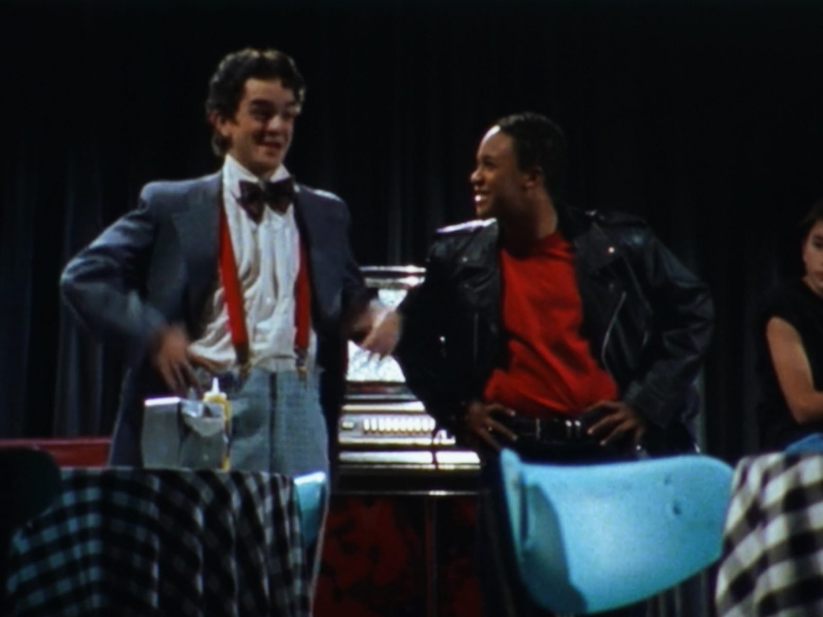Larry and Travis in the Play