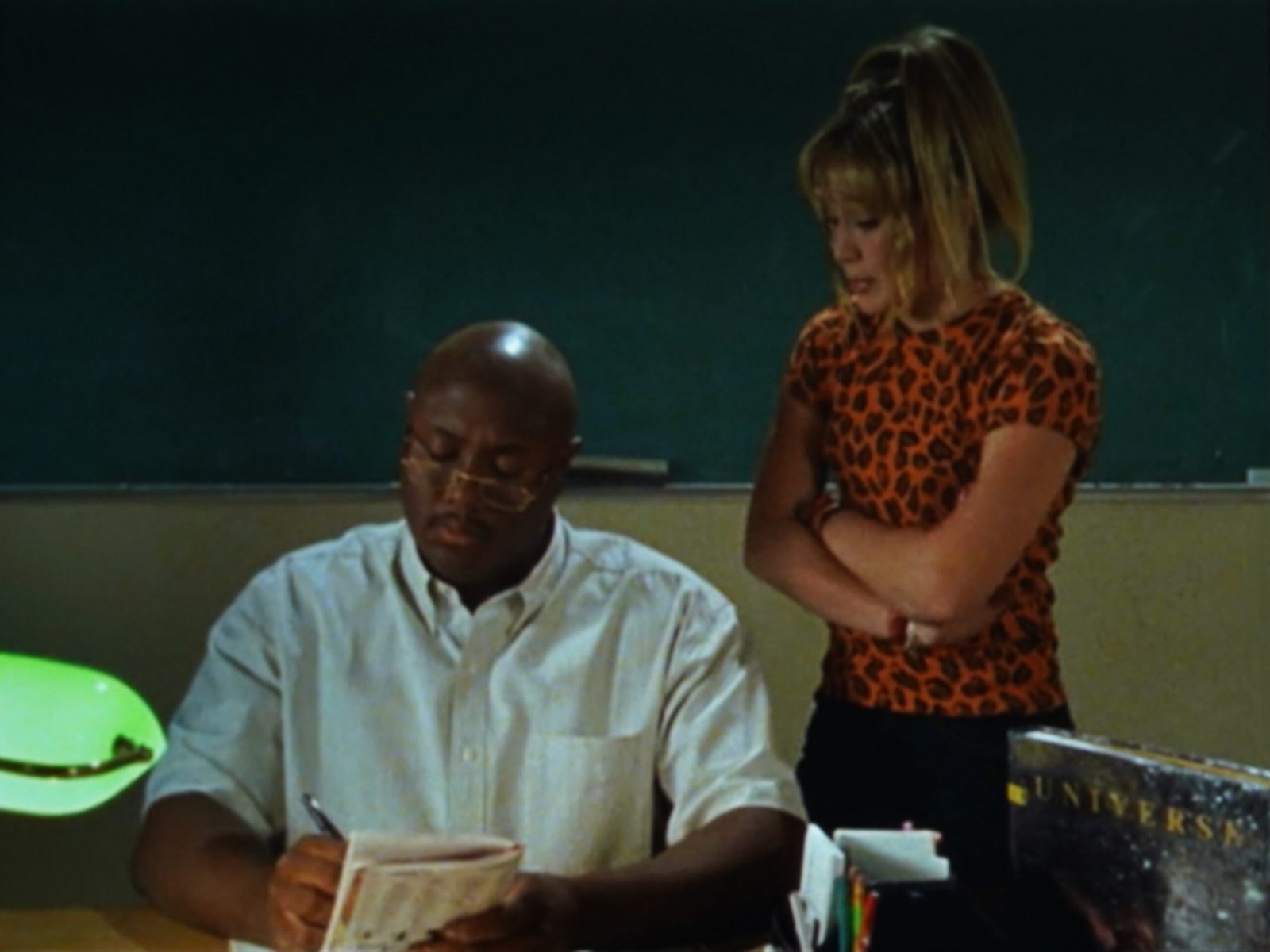 Lizzie in an Orange Spotted Shirt